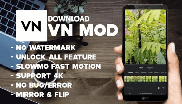 Fitur VN Pro Apk Mod Full Unlock Terbaru
