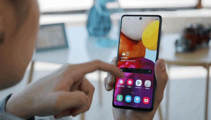 Screenshot Samsung A71